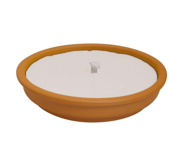 Fiamma Coccio Grande - cera bianca