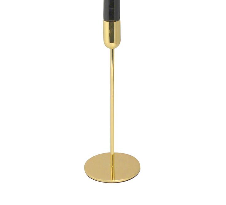 Portacandele singolo oro