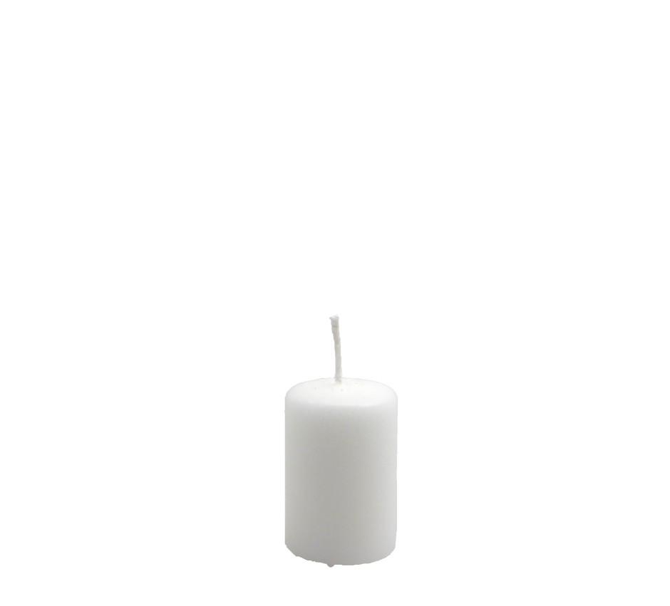 Candelotto moccolo 40x60 mm Bianco