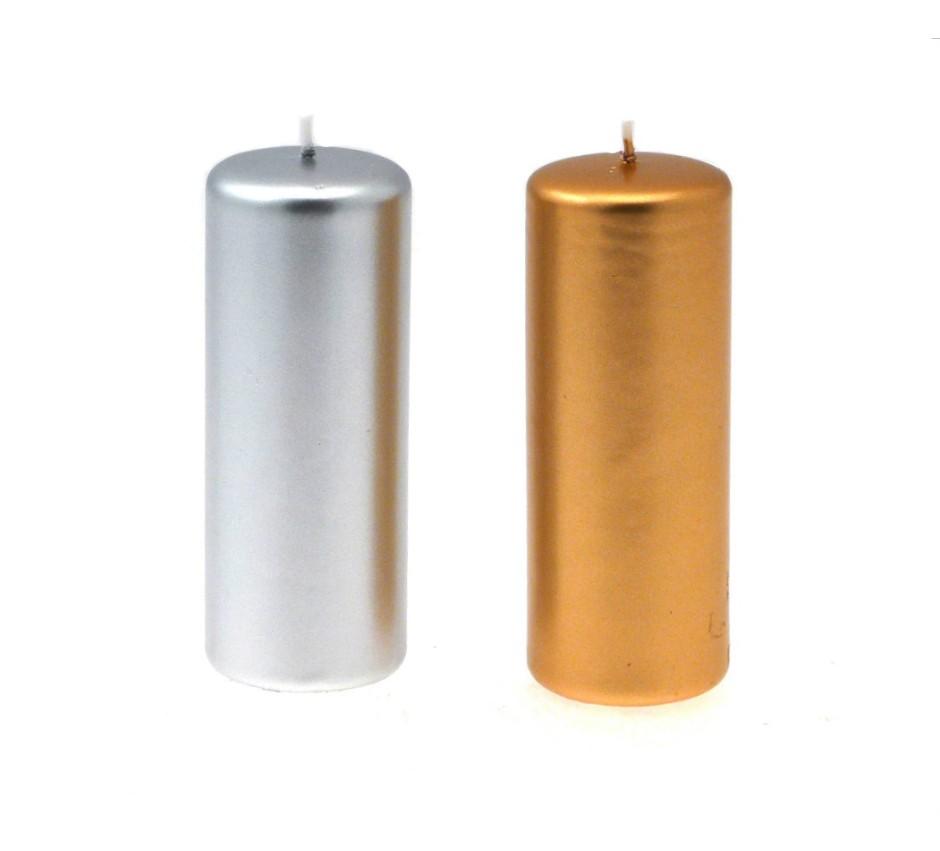 Candelotto moccolo 50x130 mm Oro/Argento