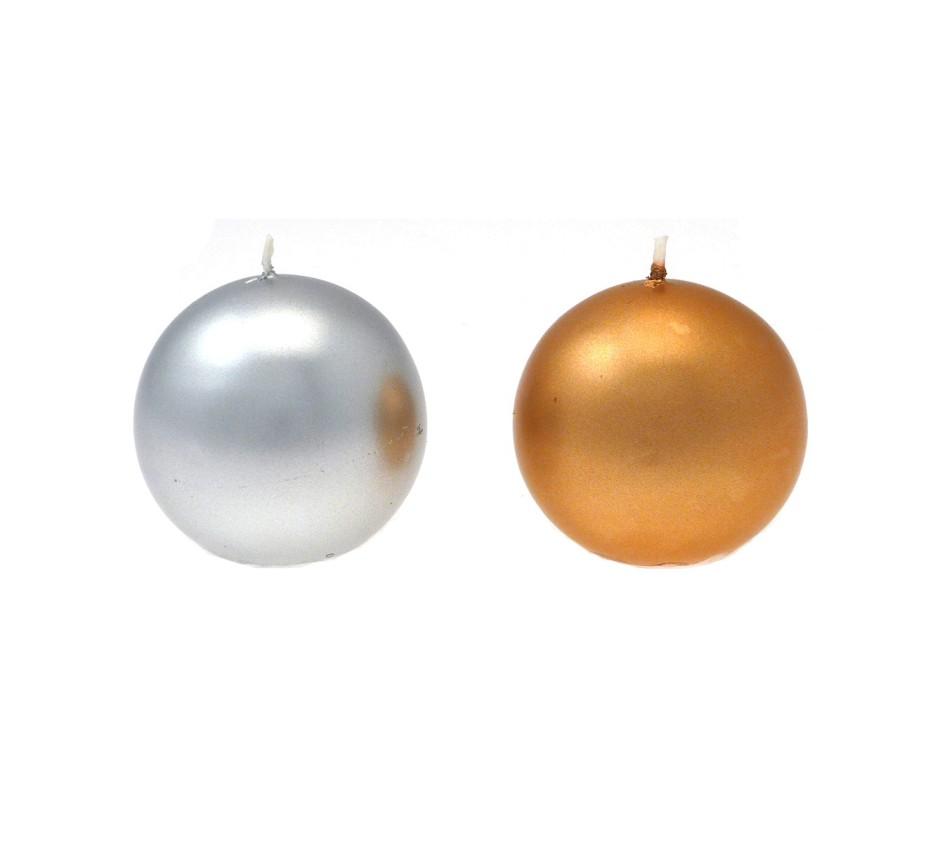 Candela sfera diam. 60 mm Oro/Argento