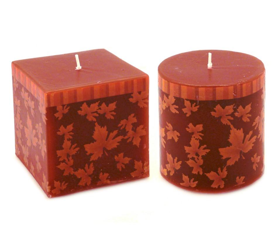 Candela quadrata e candela cilindro