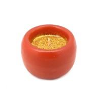 Candela Lanterna piccola glitter oro