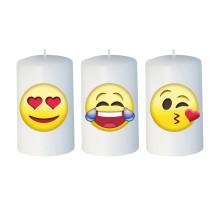 Set 3 candelotti Emoticon 50x80 mm