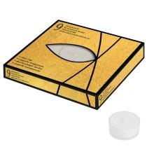 Box 9 Tealight in coppetta trasparente ( 4 h )