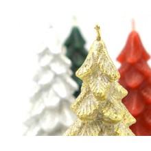 Set 4 candele albero di Natale h. 11 cm