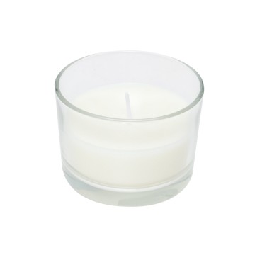 cera bianca non profumata in vetro 83x57