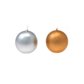 Candela sfera diam. 50 mm Oro/Argento
