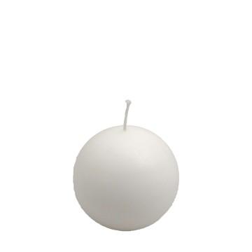 Candela sfera d. 80 mm BIANCA