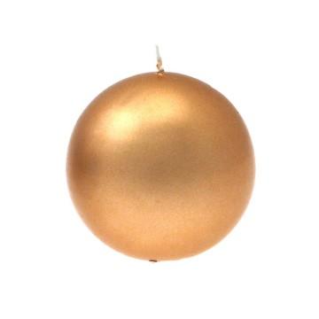 candela sfera oro diam. 80 mm