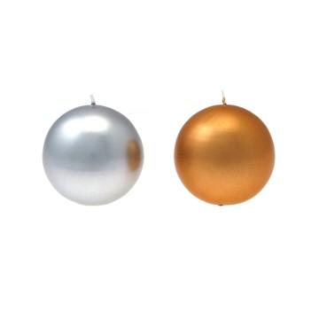Candela sfera diam. 80 mm Oro/Argento