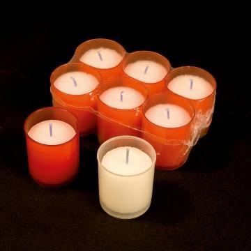 confezione 6 lumini STELLA bianco