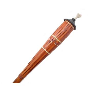 Torcia bambu laccato h. 120 cm contenitore MAXI