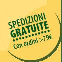 spedizioni gratuite per ordini maggiori o uguali di 49 euro